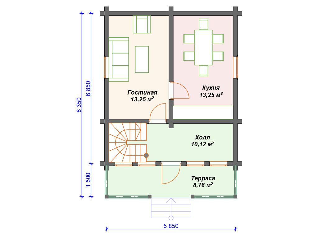 2 двухэтажные дома