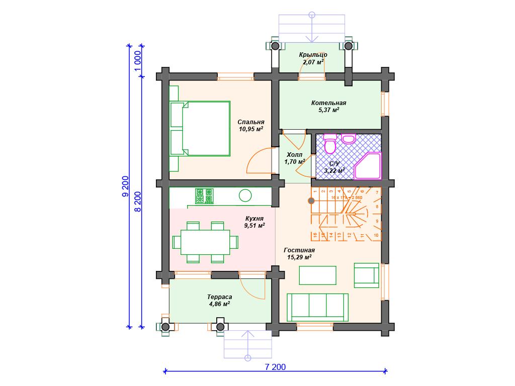 Бревно дом ключ построить