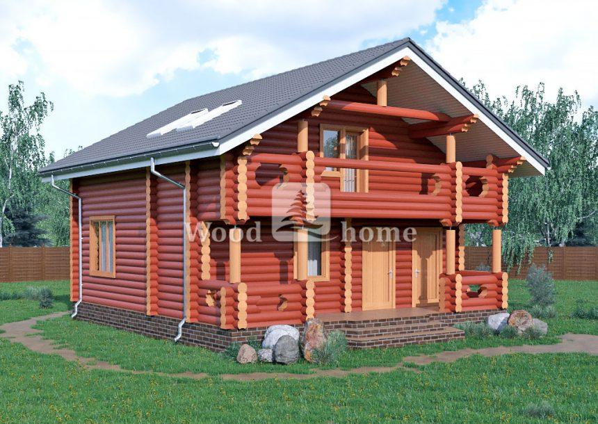 Деревянный дом из бревен одноэтажный