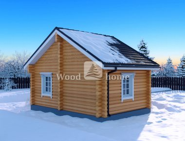 Деревянный дом из бревна