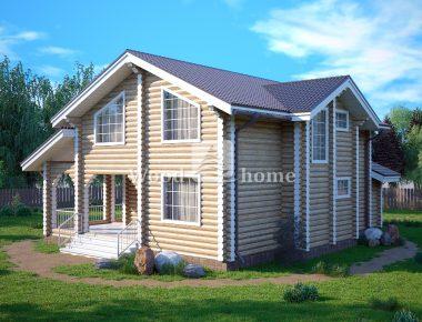 Деревянный сруб дома из бревна