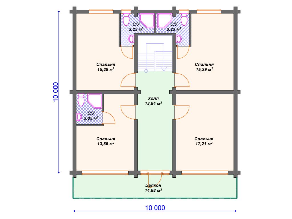 Дом 120 кв из бревна
