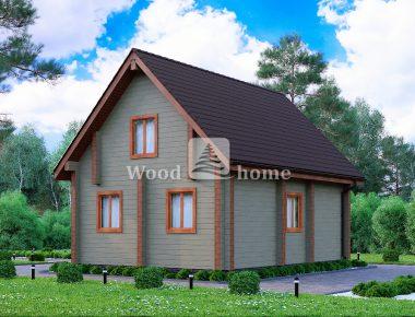 Дом 8 на 8 двухэтажный