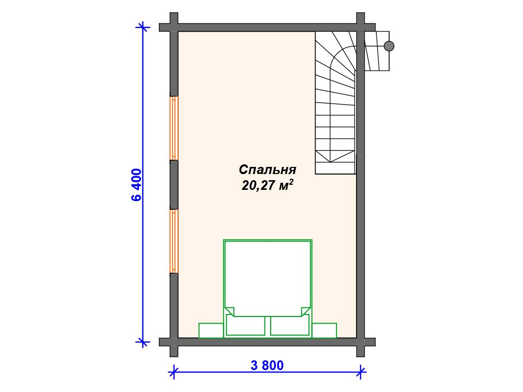 Дом 8х8 двухэтажный