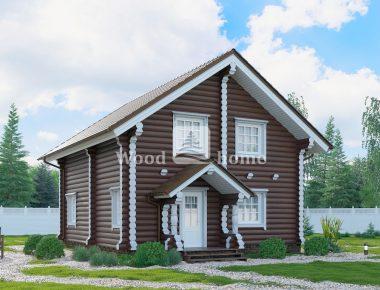 Дом бревно под ключ дешево