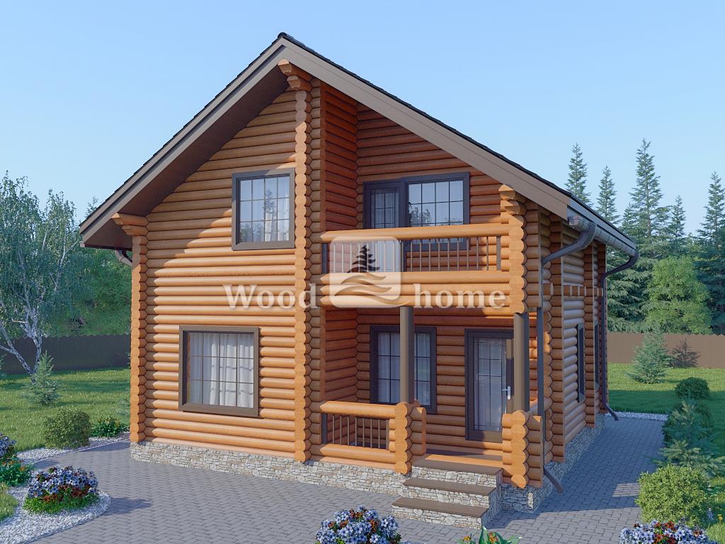 Дом из бревна 10х10