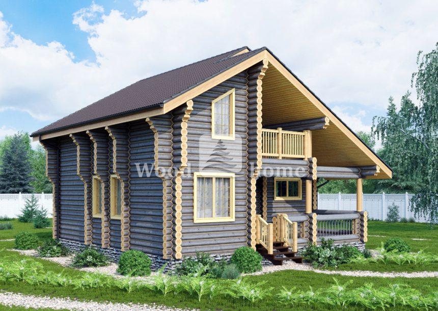Дом из бревна 150 кв м