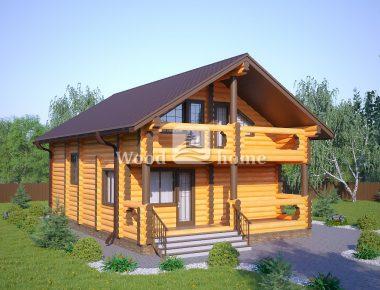Дом из бревна для зимнего проживания