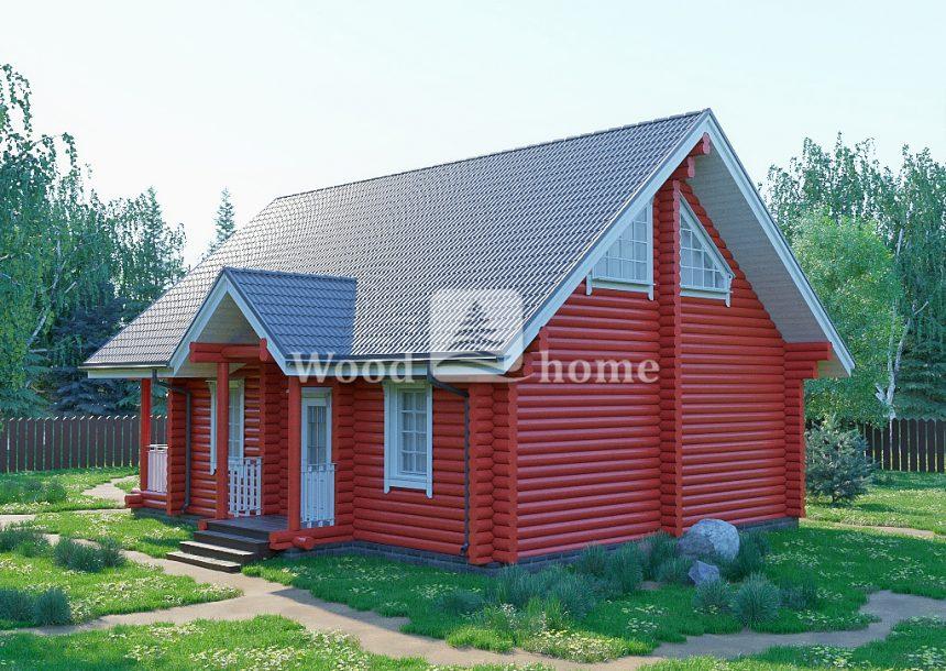 Дом из бревна до 100 кв м