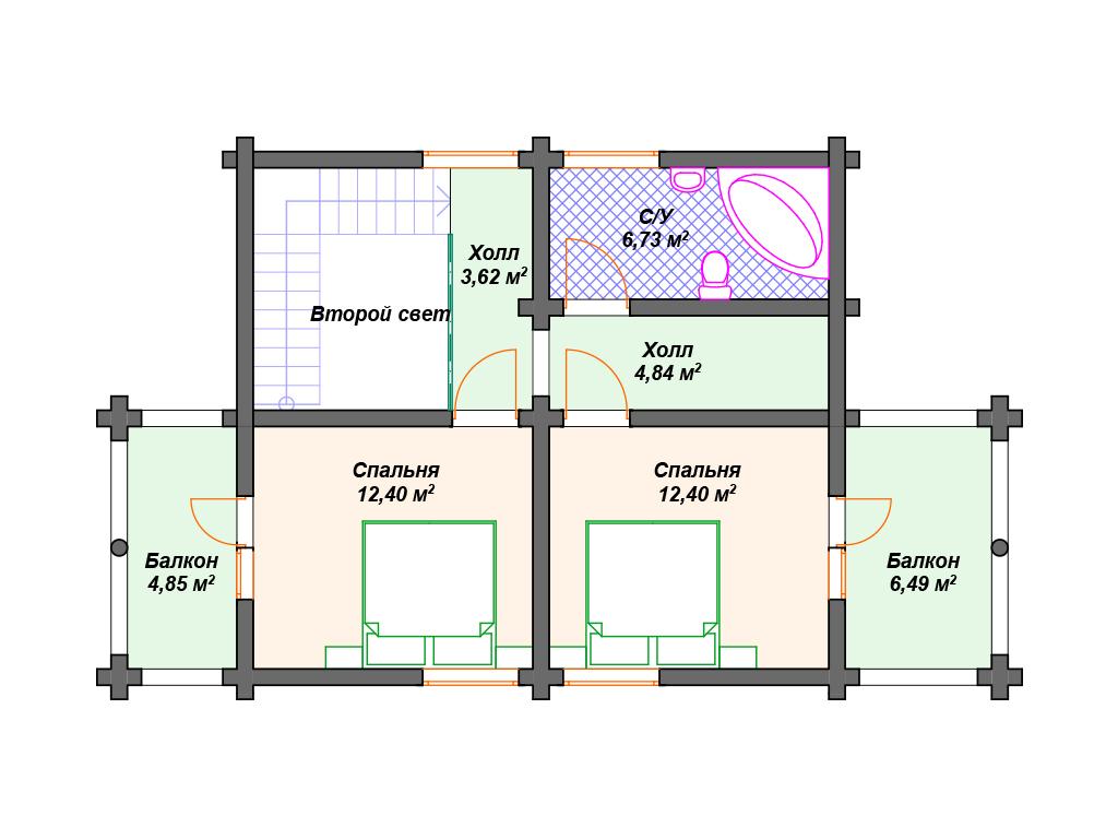Дом из бревна одноэтажный проекты и цены