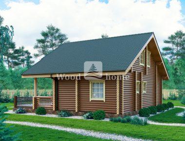 Дом из бревна с котельной