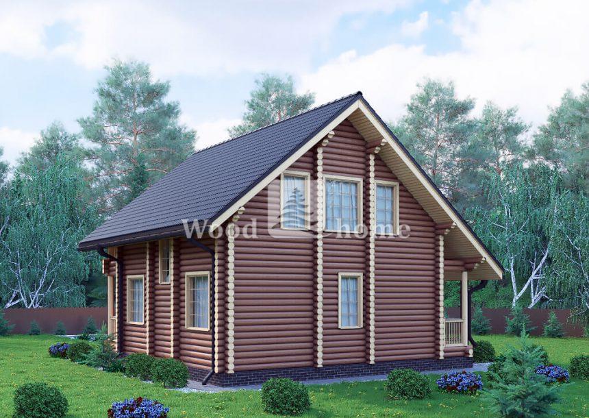 Дом из бревна с мансардой фото
