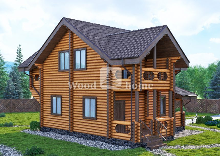 Дом из бревна с печкой