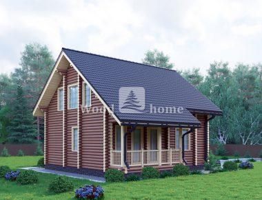 Дом из бревна зимой