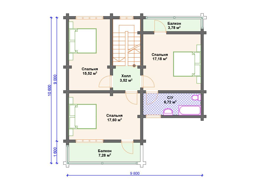 Дом из бруса 200х200 недорого