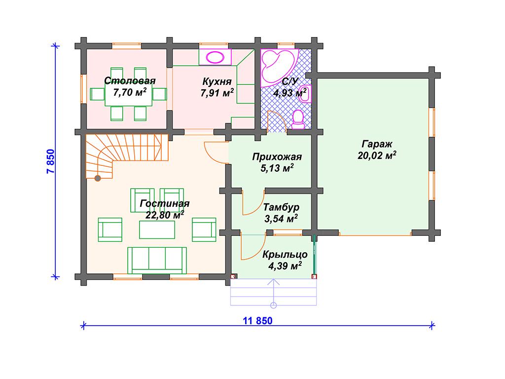 Дом из бруса под ключ цены