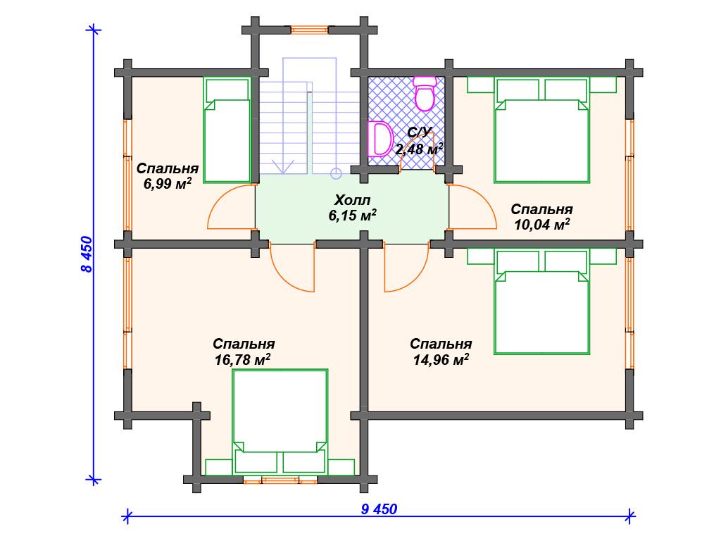 Дом из бруса под ключ проекты цена