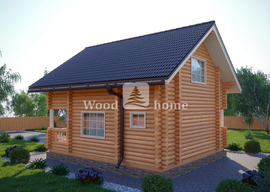 Дом из цилиндрического бревна