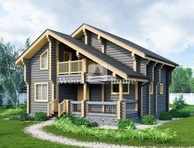 Дом из цилиндрического бревна цена