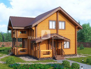 Дом из калиброванного бревна под ключ цена