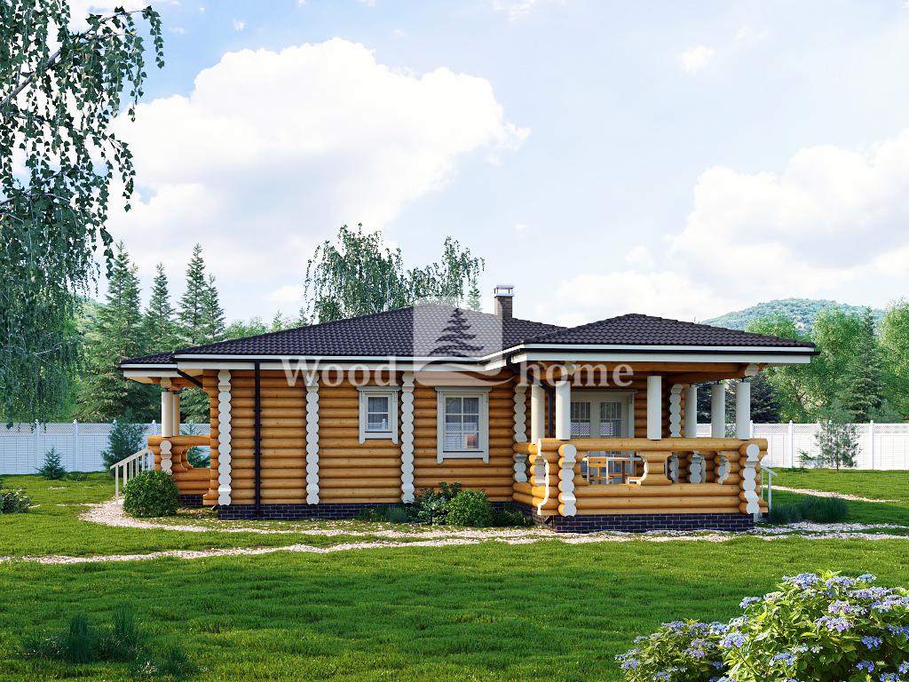 Дом из оцилиндрованного бревна цена