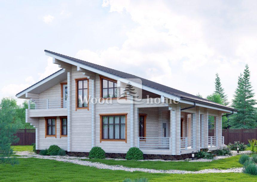 Дом из сухого бруса 200х200