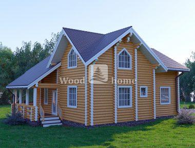 Дом из толстого бревна