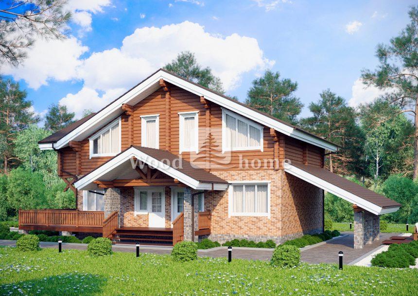Дом комбинированный дерево