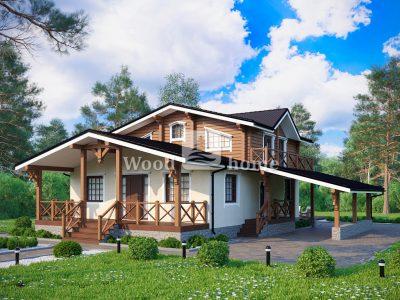 Дом в стиле шале с террасой