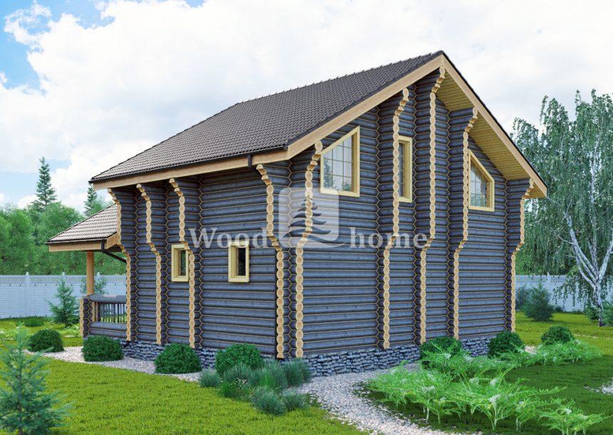 Дома из цилиндрического бревна под ключ