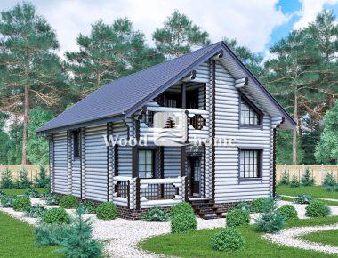 Дома из калиброванного бревна под ключ проекты
