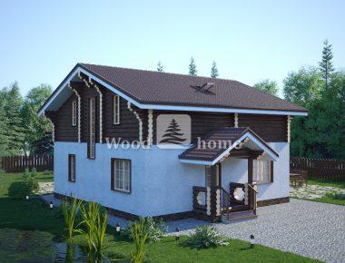 Дома из оцилиндрованного бревна в стиле шале