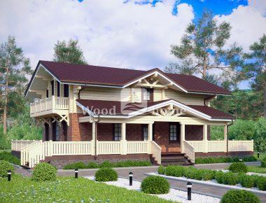 Дома в стиле шале из дерева