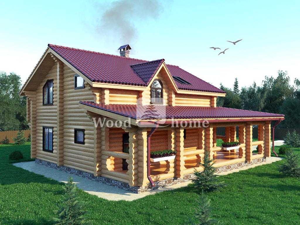 Дорогие дома из бревна