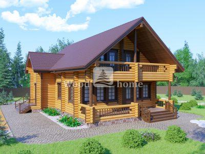 Фото одноэтажных деревянных домов из бревна