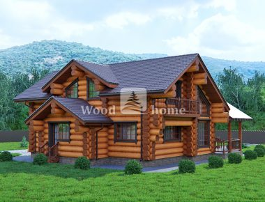 Гостевой дом из бревна проекты