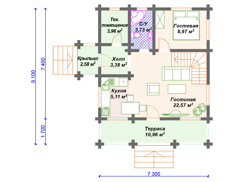 Готовые дома из бревна цены