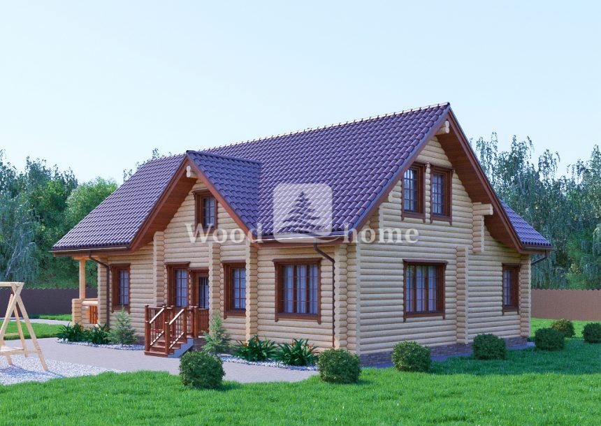 Готовые проекты домов из бревна