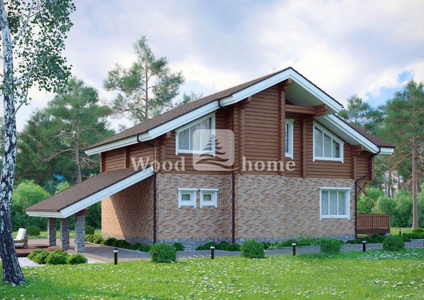 Комбинированные дома фото