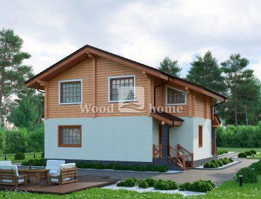 Комбинированный деревянный дом