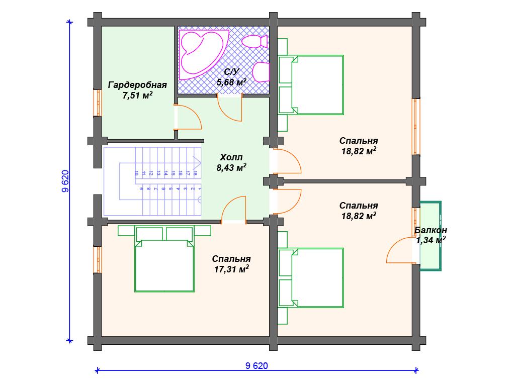 Комбинированный дом из кирпича и бревна