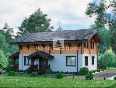 Комбинированный дом с мансардой