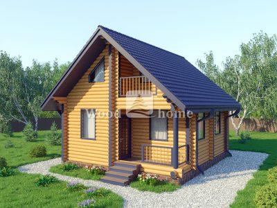 Красивые дома из бревна