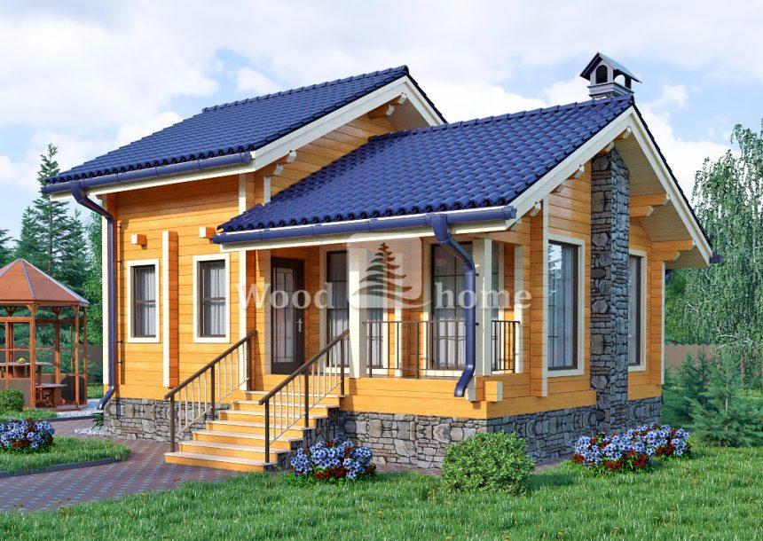 Квадратный двухэтажный дом