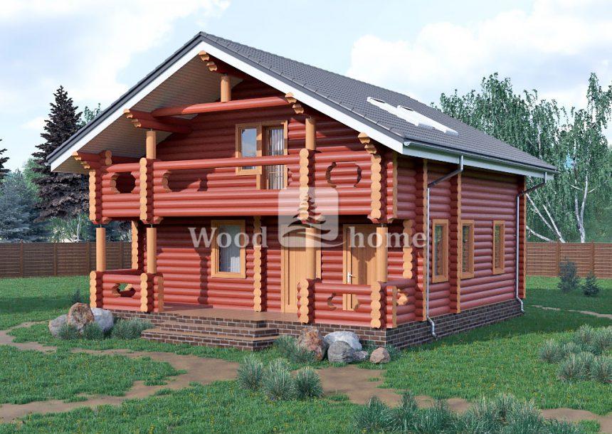 Маленький дом из бревна
