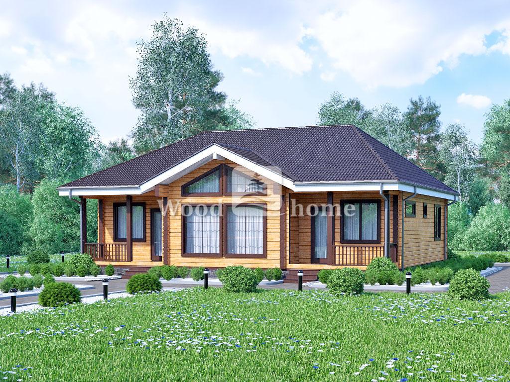 Небольшие дома из бруса
