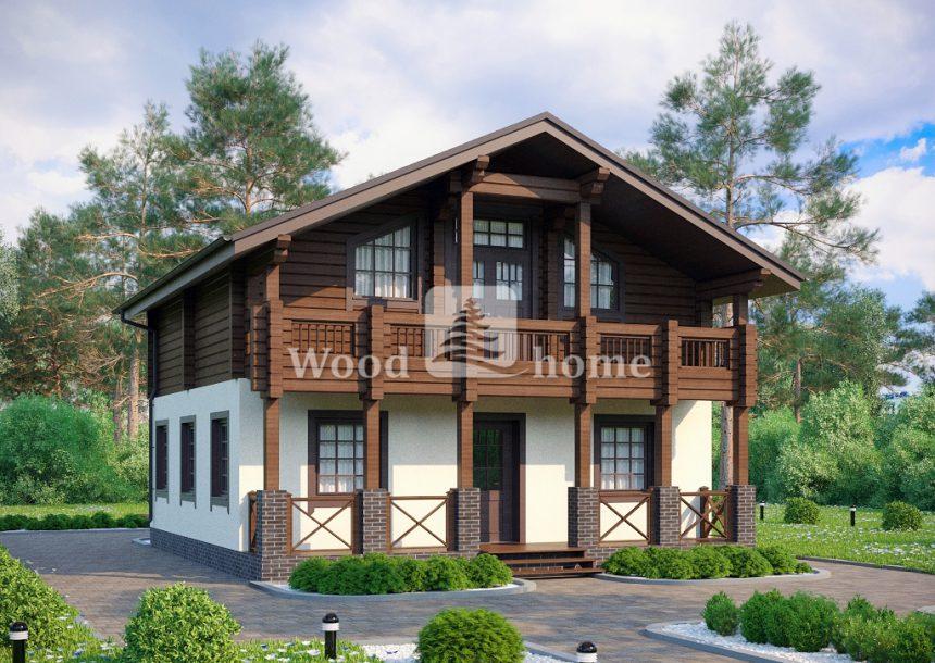 Дома в стиле шале двухэтажные