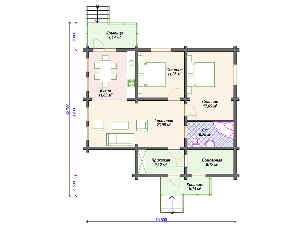 Недорогие одноэтажные дома