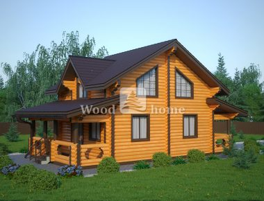 Недорогие проекты домов из бревна