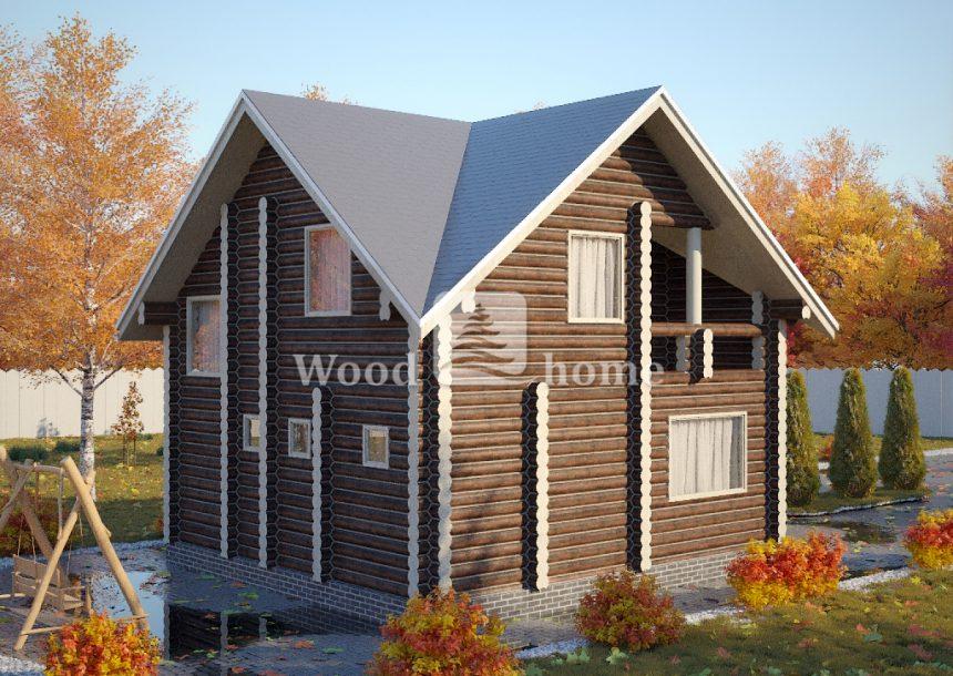 Одноэтажные дома из бревна фото